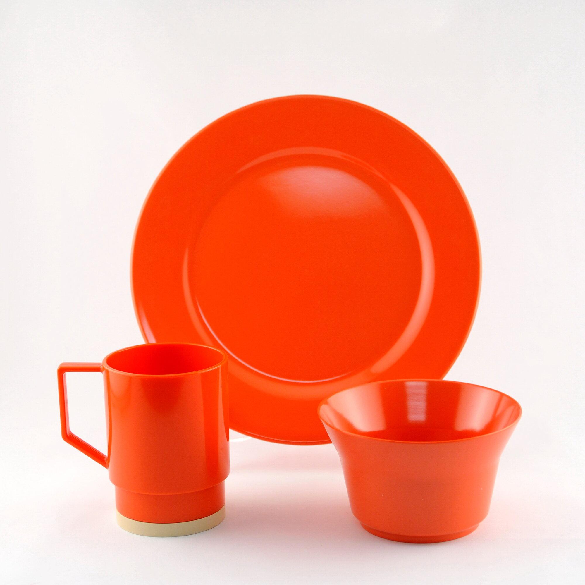 Galleyware Company Melamine 18 Piece Dinnerware Set Salmon | eBay