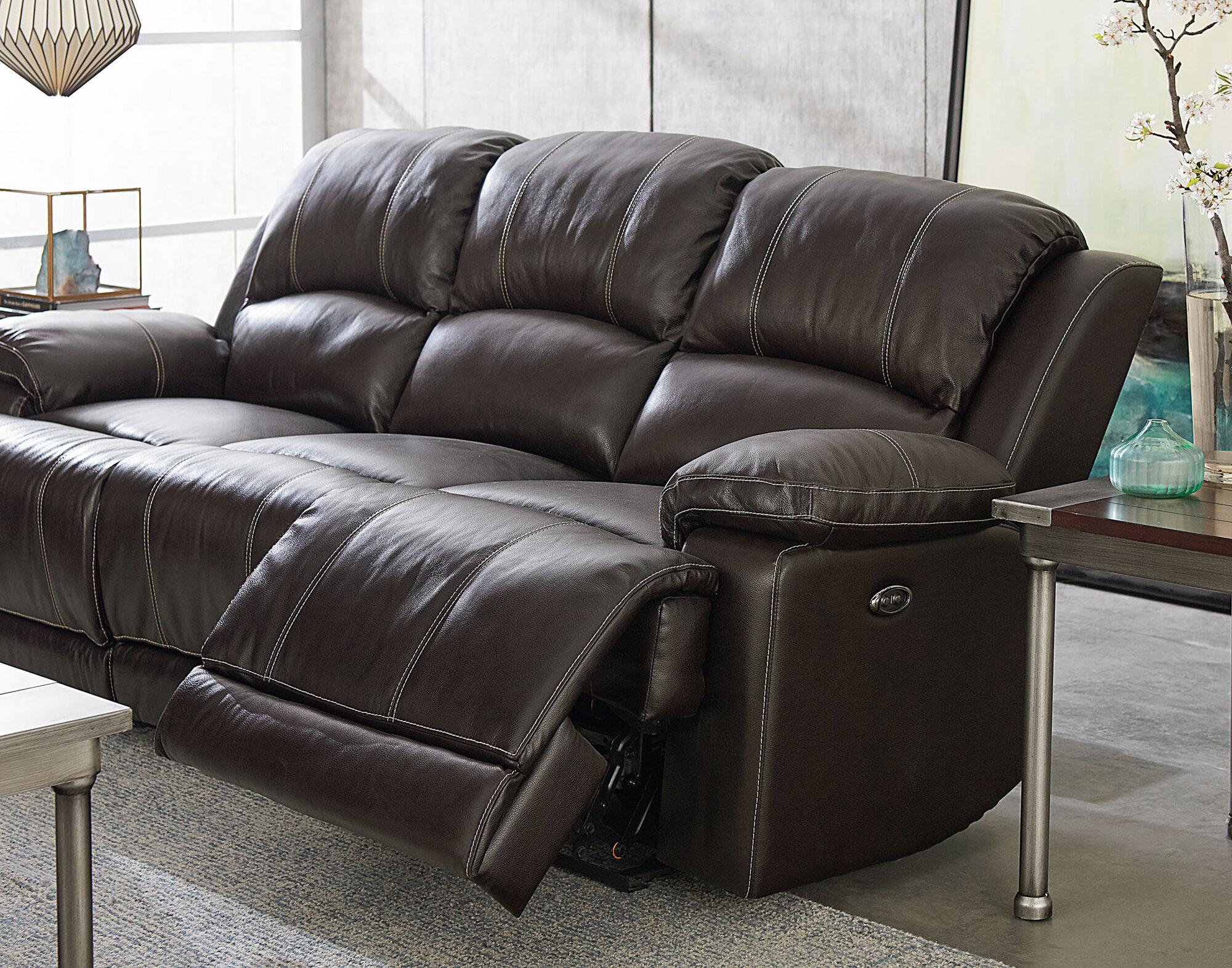 plough recliner reading reclining sofa leather corner the cozy with cadsden set at