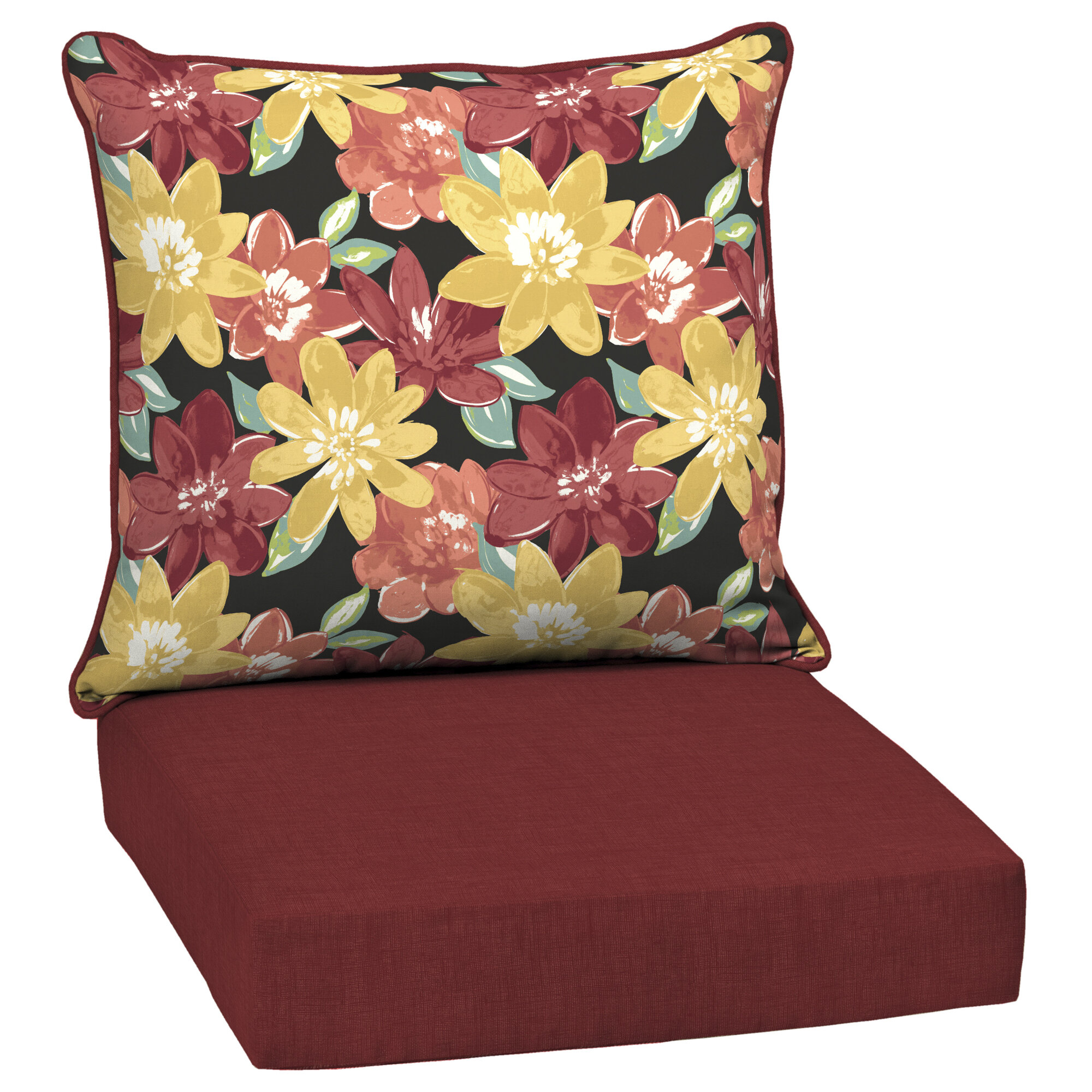 Wondrous Details About Red Barrel Studio Floral Outdoor Lounge Chair Cushion Dens1514 Squirreltailoven Fun Painted Chair Ideas Images Squirreltailovenorg