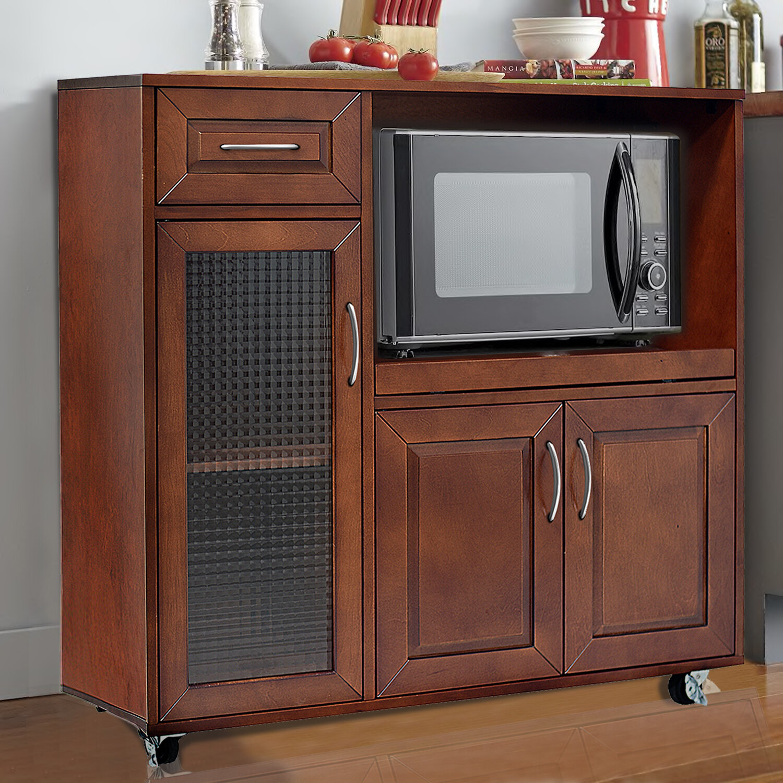 Kitchen Microwave: Red Barrel Studio Landfall Microwave Cart 190686166944