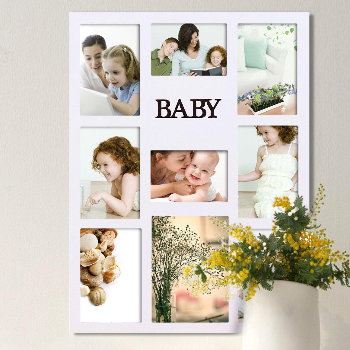 Adeco trading 9 opening decorative baby wall hanging collage adeco trading 9 opening decorative 034 baby 034 jeuxipadfo Images