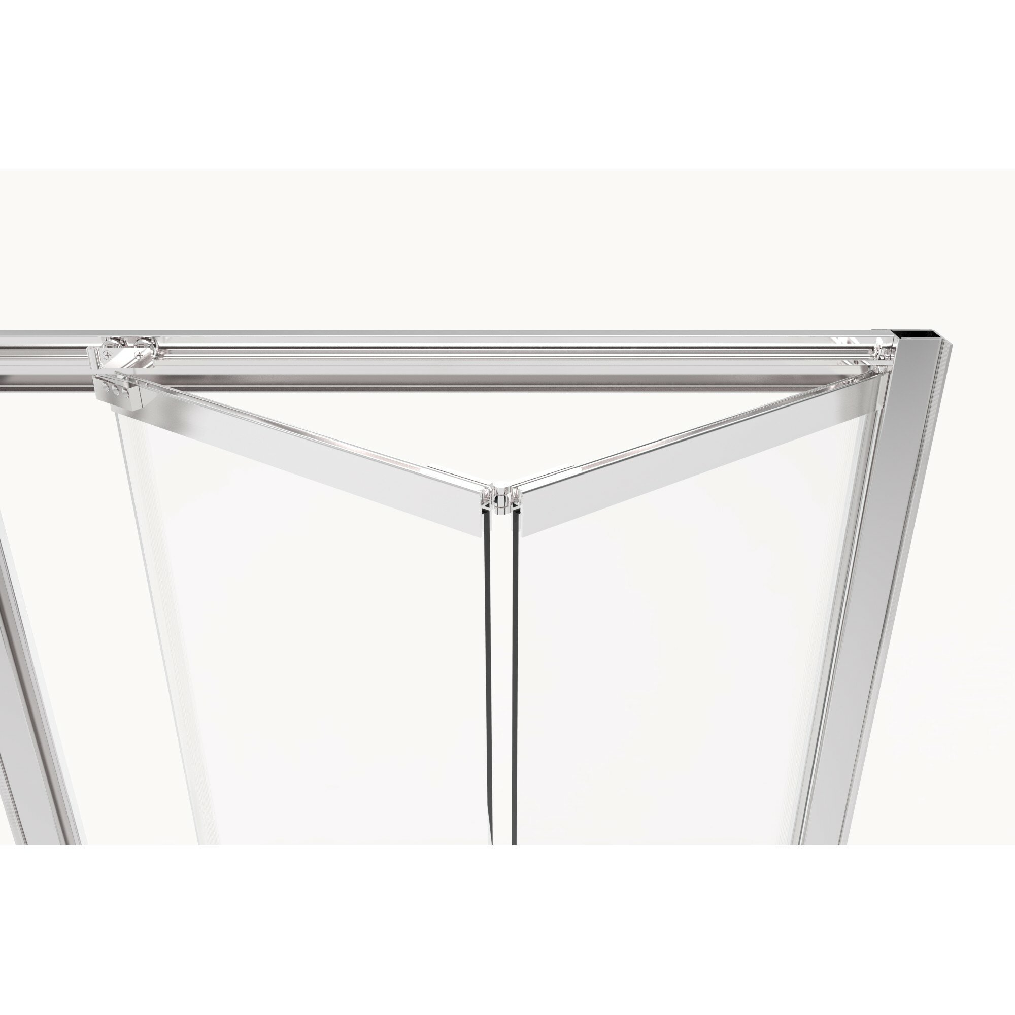 Details About Infinity Bifold 31 X67 Folding Semi Frameless Shower Door Brushed Nickel Clear