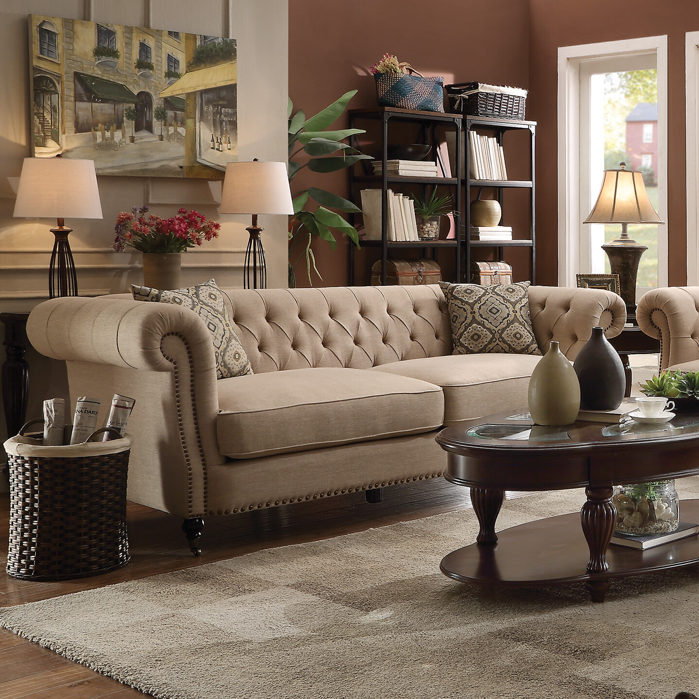 Darby Home Co Foreside Chesterfield Sofa | eBay