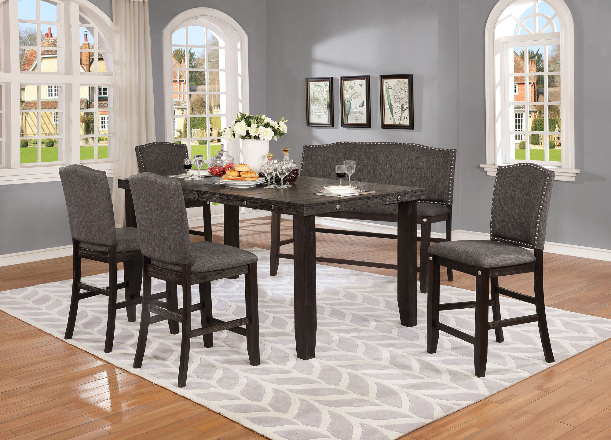 Awe Inspiring Details About Darby Home Co Dykstra 6 Piece Counter Height Solid Wood Dining Set Alphanode Cool Chair Designs And Ideas Alphanodeonline