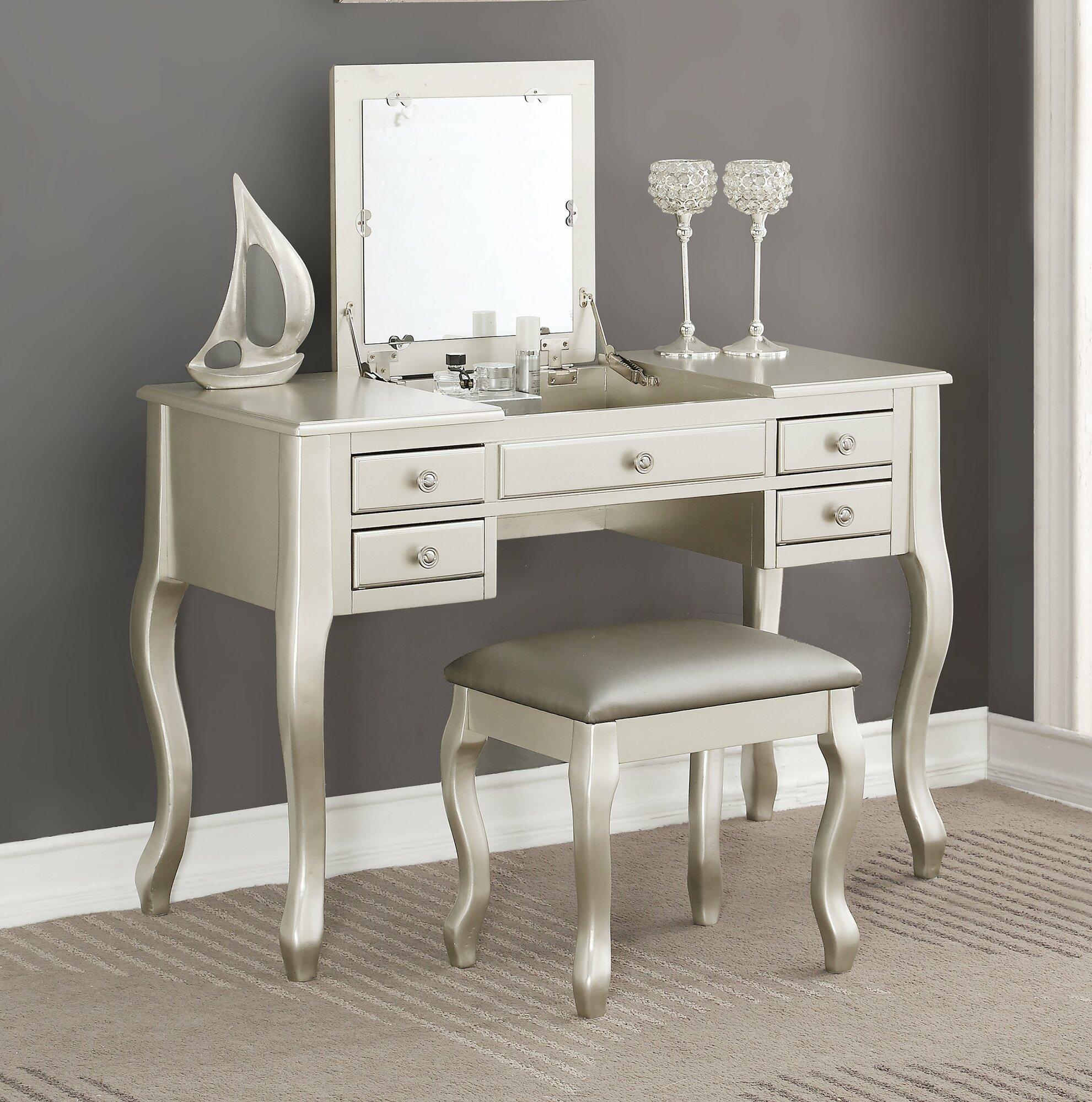 Charlton Home Lavern Vanity Set With Mirror Ebay