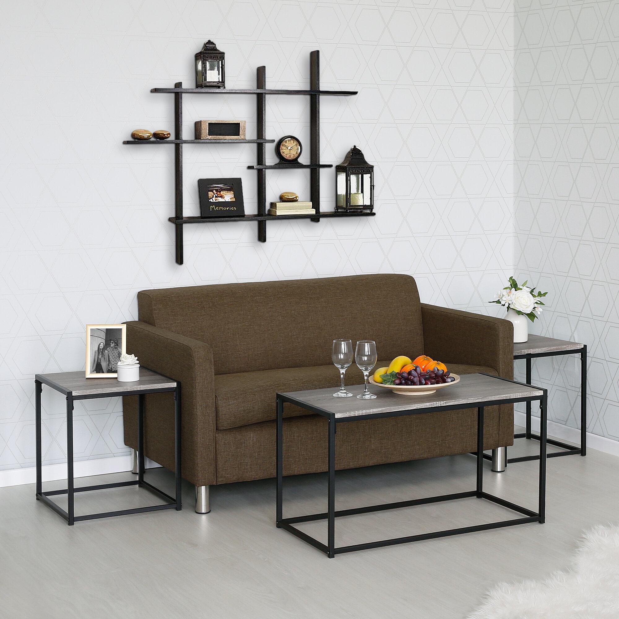 Wrought-Studio-Andresen-3-Piece-Coffee-Table-Set & Wrought Studio Andresen 3 Piece Coffee Table Set | eBay