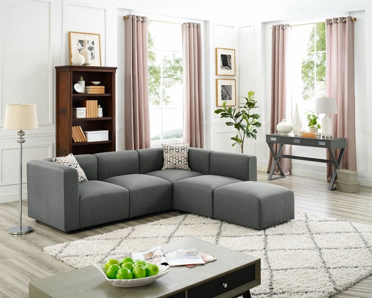 Superb Details About Wrought Studio Kirby Modular Sectional With Ottoman Uwap Interior Chair Design Uwaporg