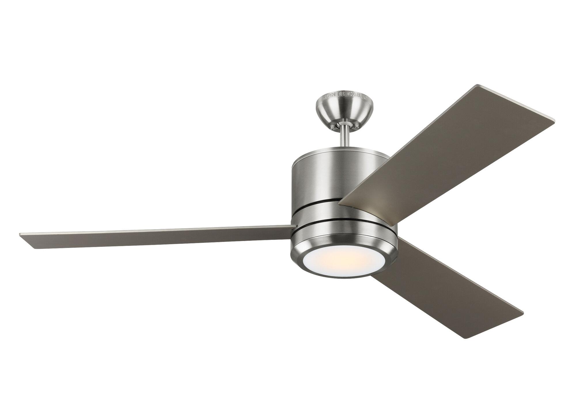 """Brayden Studio 56"""" Ossu 3 Blade LED Ceiling Fan"""