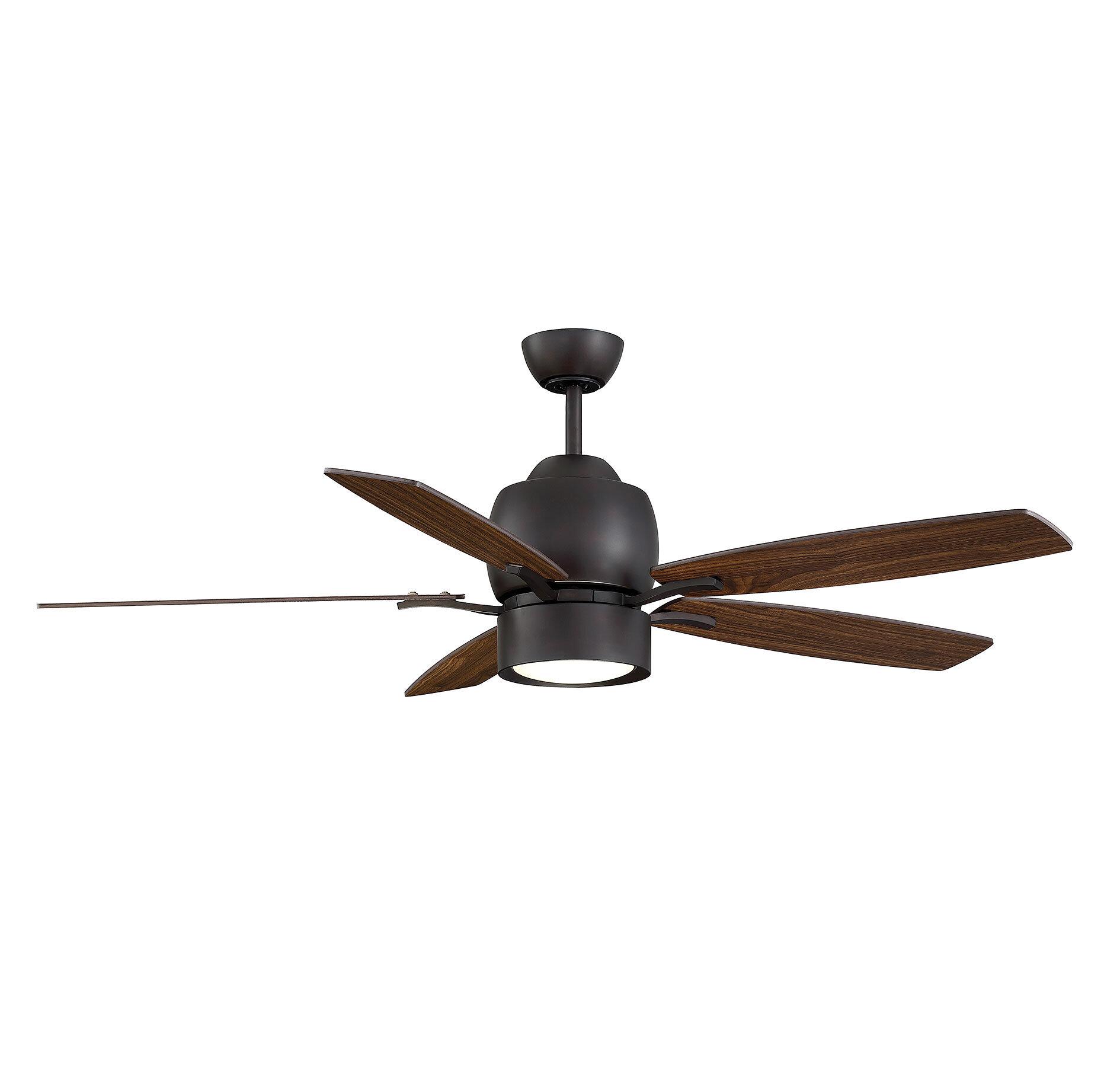 Brayden Studio Dorset 5 Blade Ceiling Fan with Remote