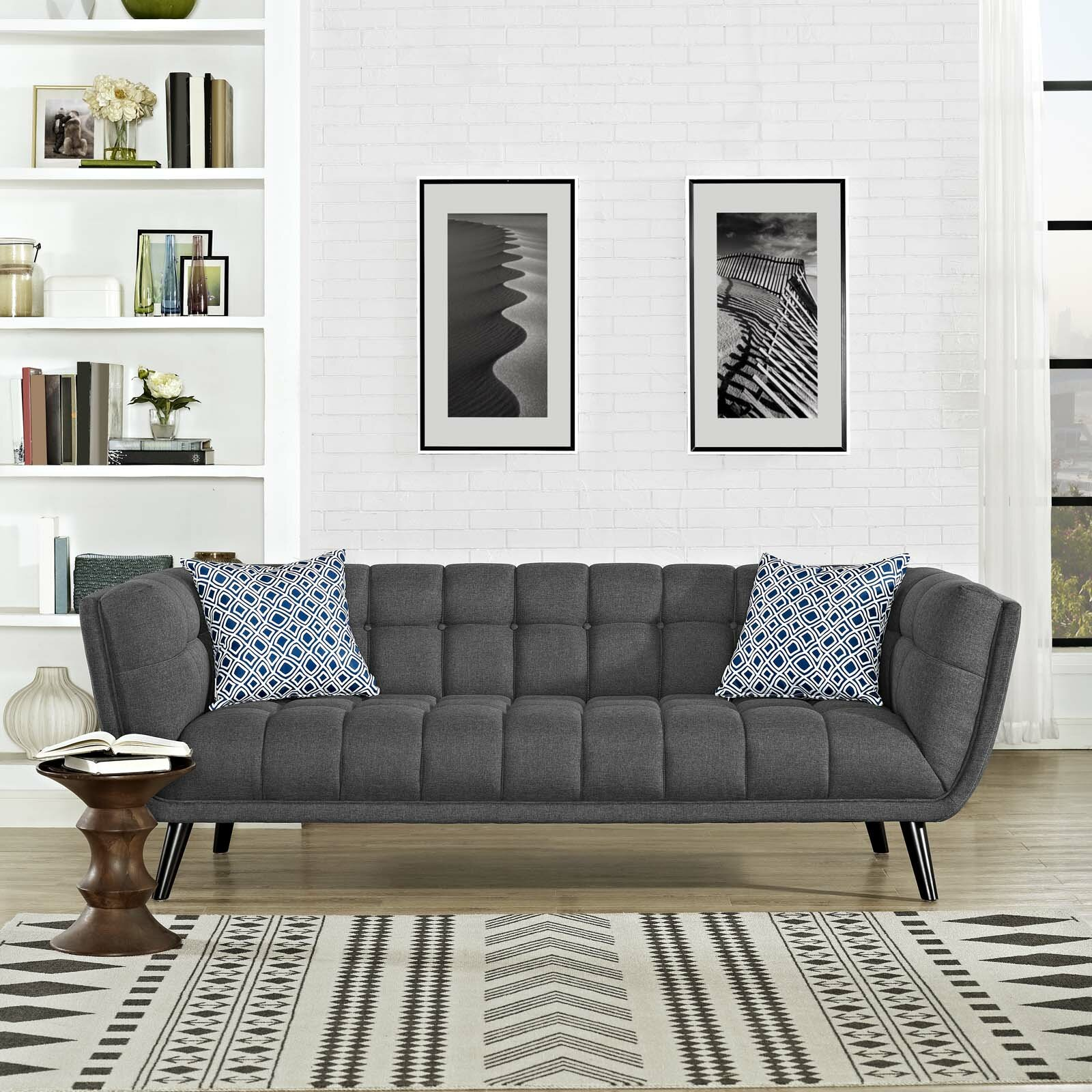 Brayden Studio Seneca Upholstered Chesterfield Sofa