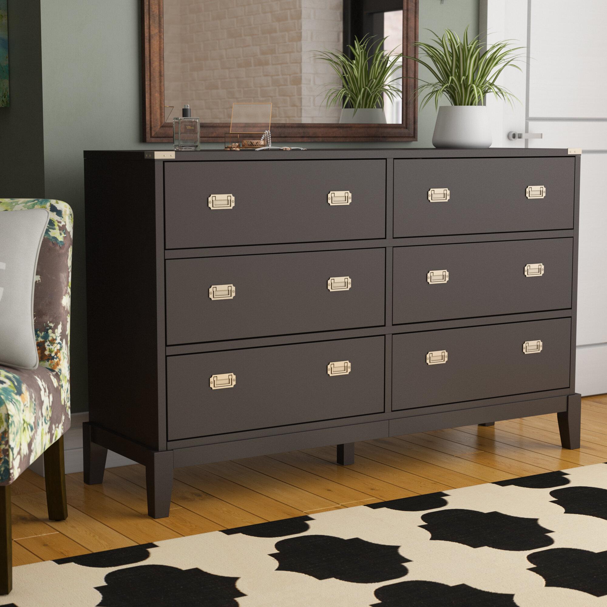 Details About Brayden Studio Rose 6 Drawer Double Dresser