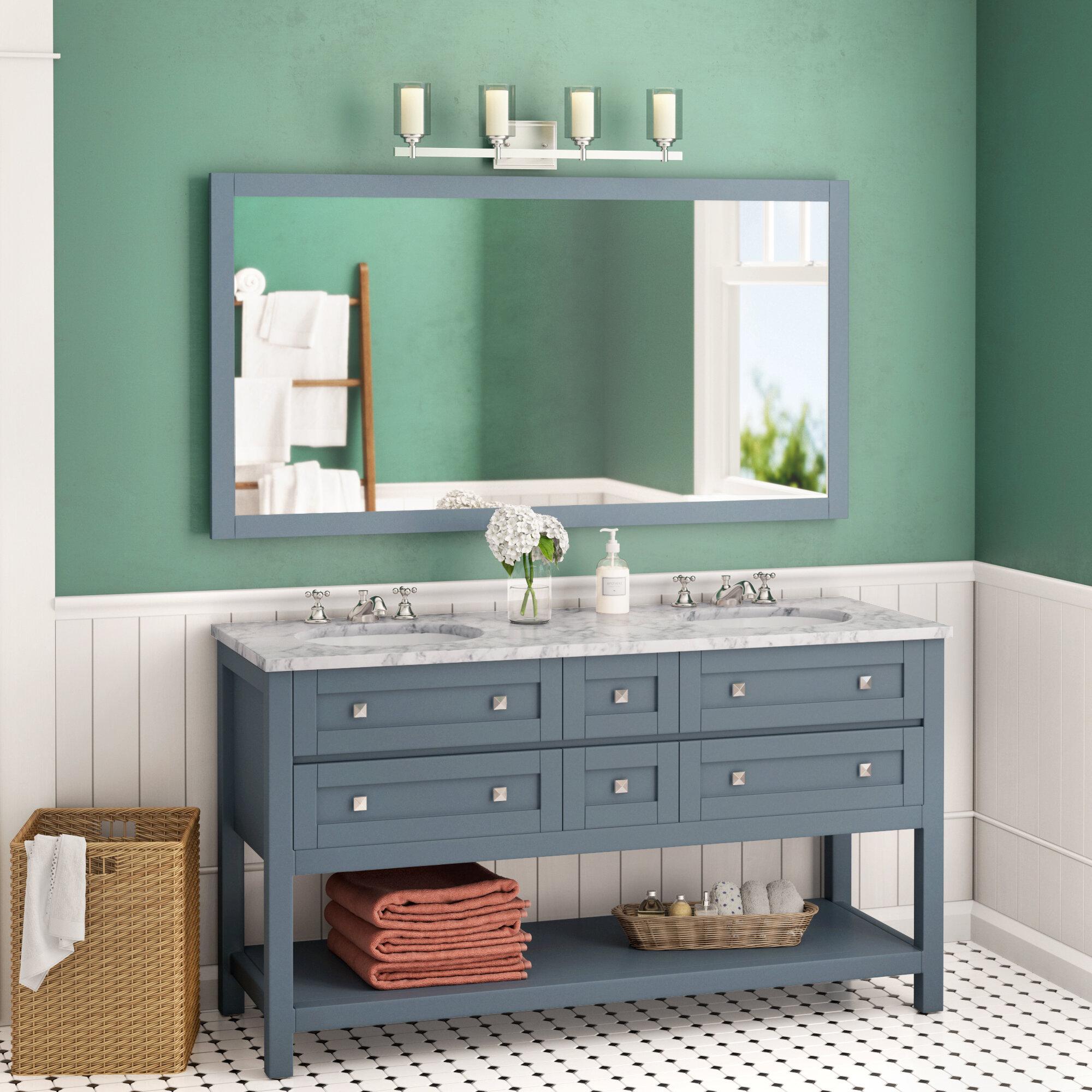 Brayden Studio Wilmot 60 Double Bathroom Vanity Set With Mirror Ebay