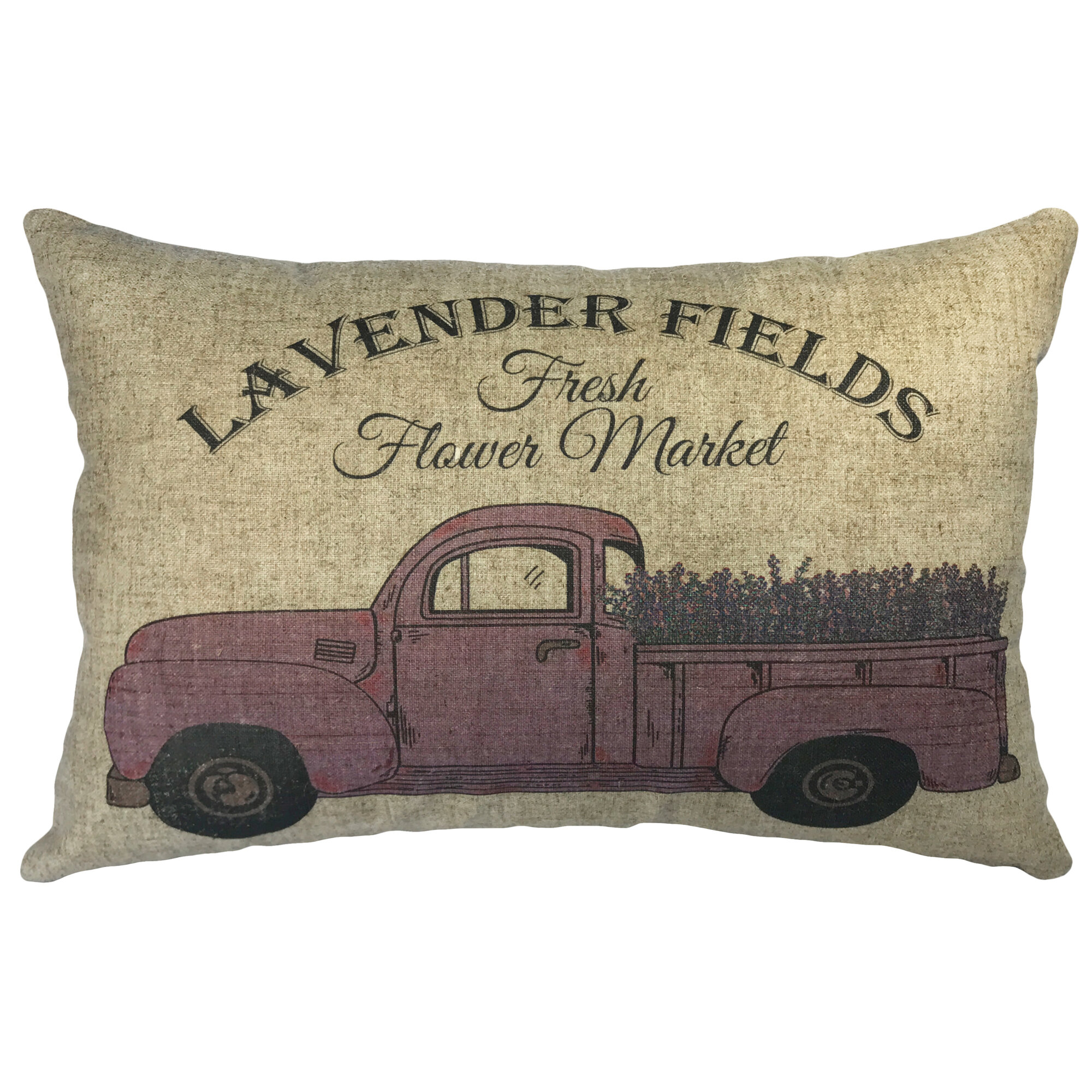 Details About August Grove Candelario Lavender Fields Linen Lumbar Pillow