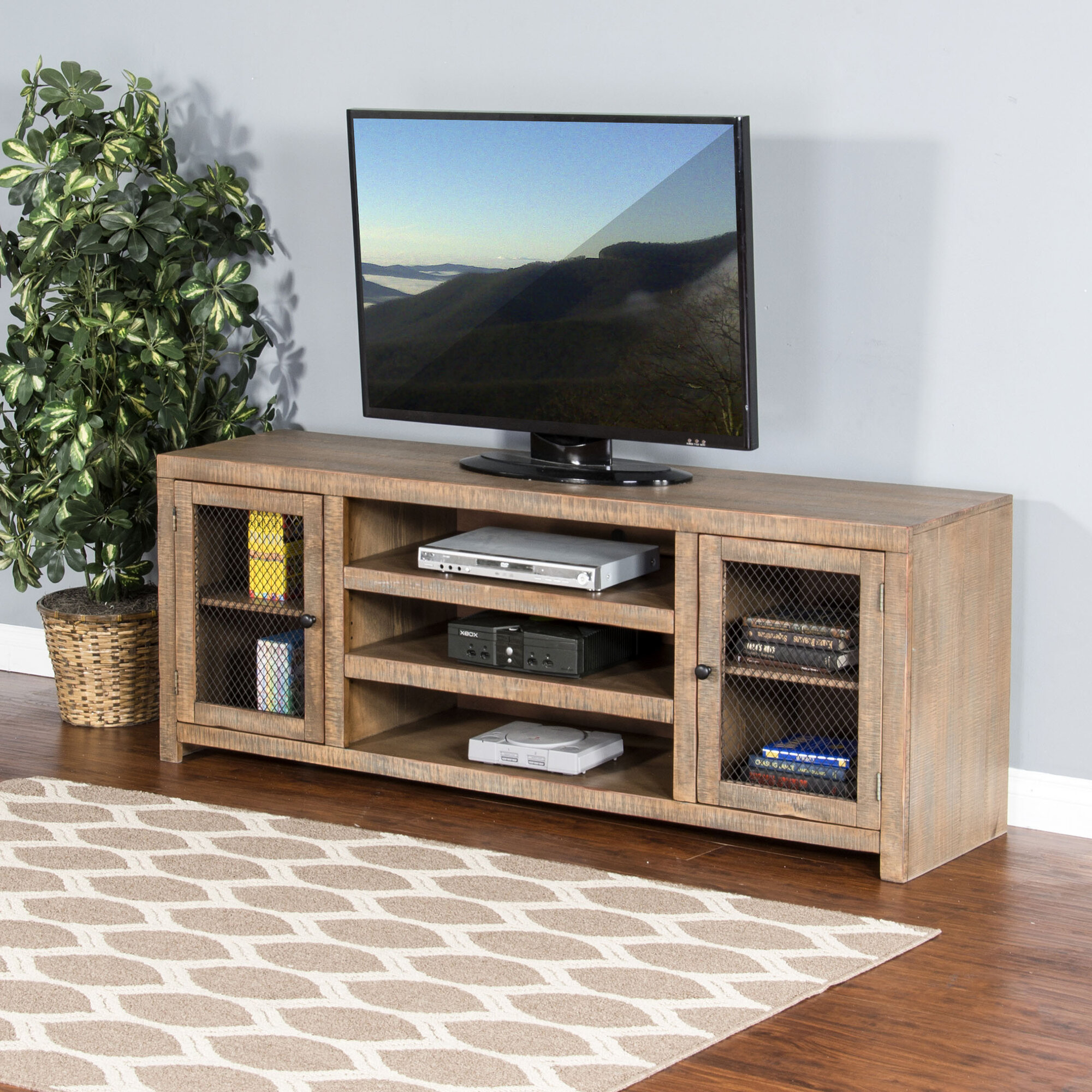 Loon Peak Waldron 72 Tv Stand Ebay # Table Pour La Television