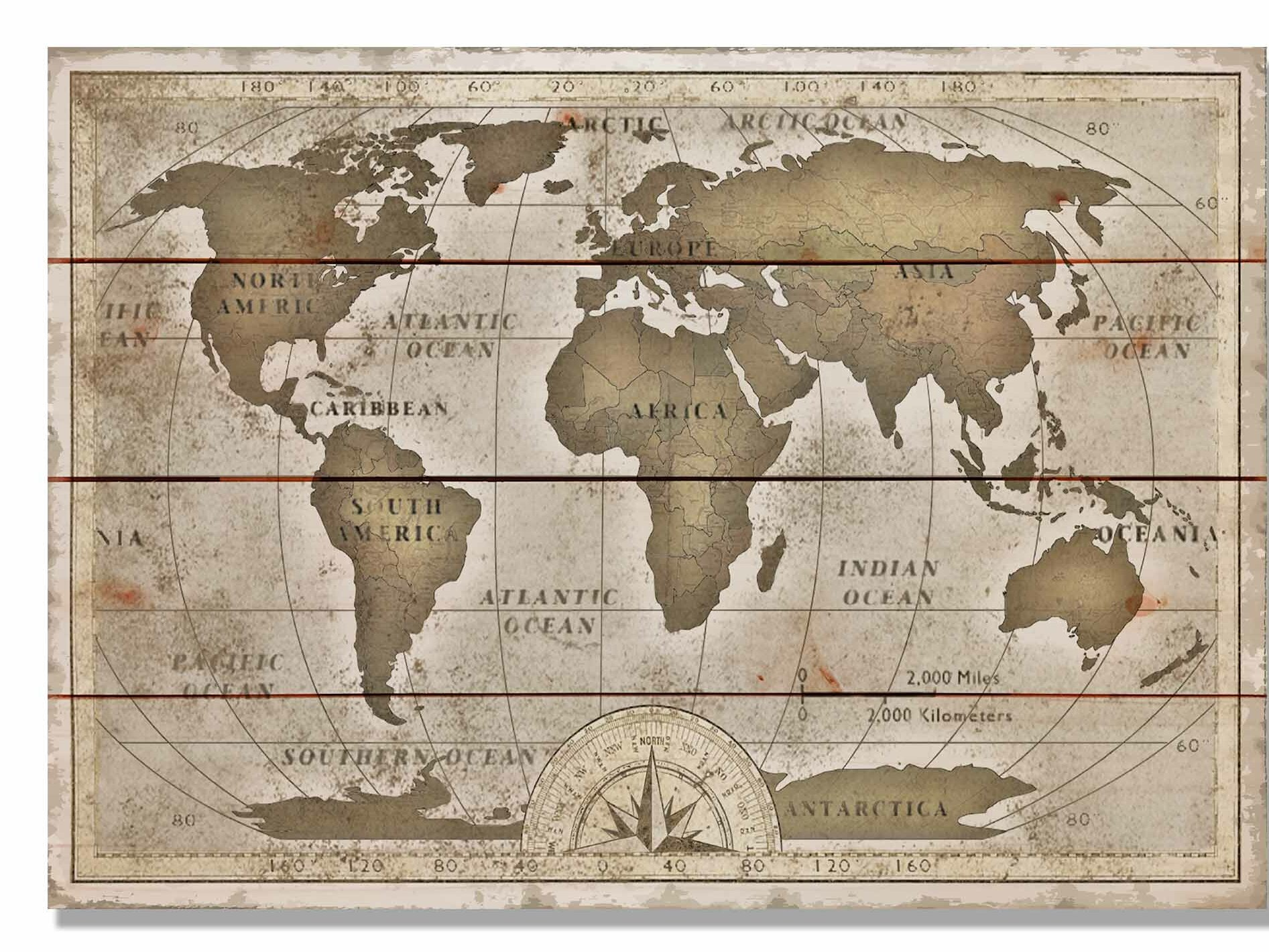 Daydream hq old world map graphic art on wood ebay daydream hq 039 old world map 039 graphic gumiabroncs Choice Image