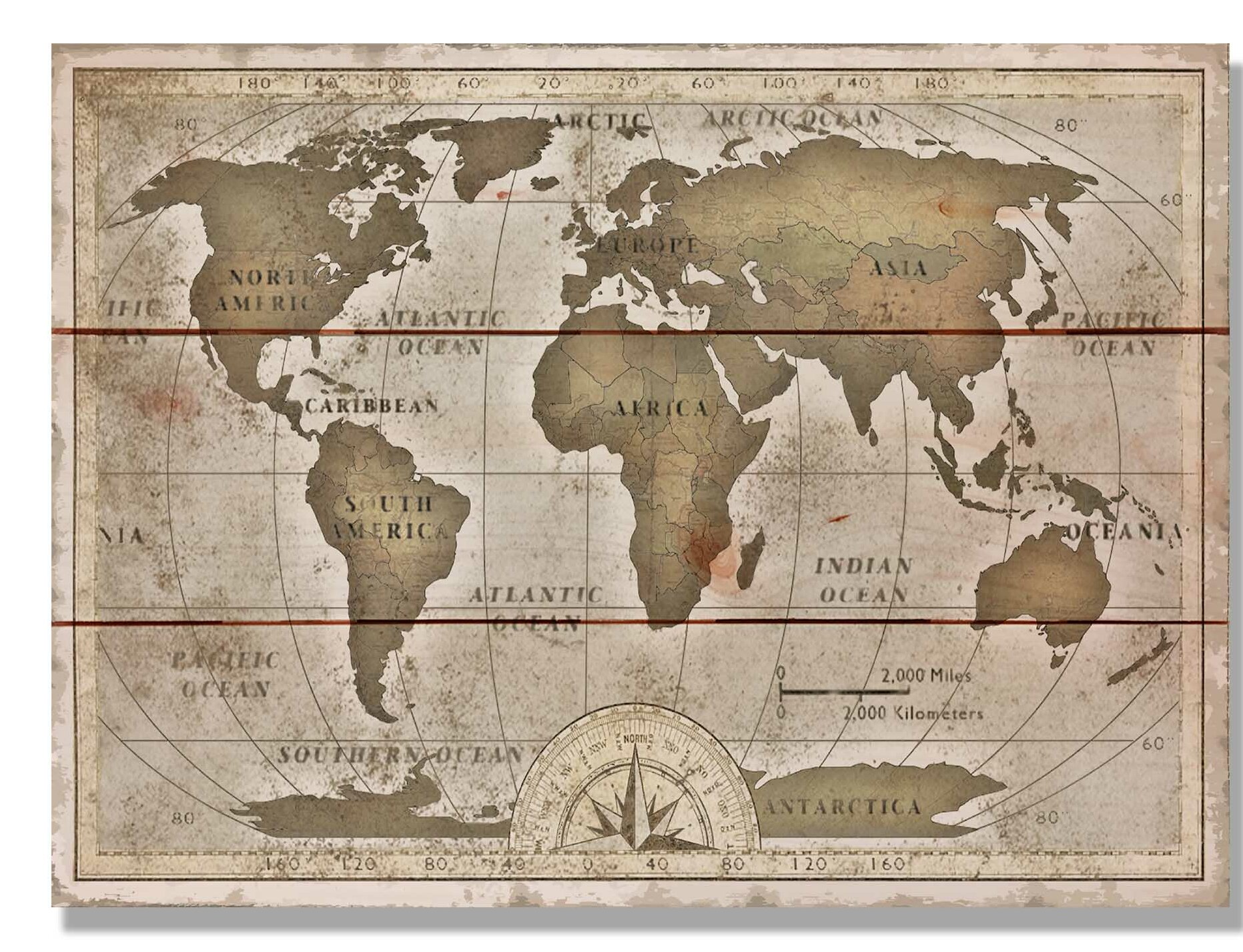 Old World Map Daydream HQ 'Old World Map' Graphic Art on Wood | eBay Old World Map