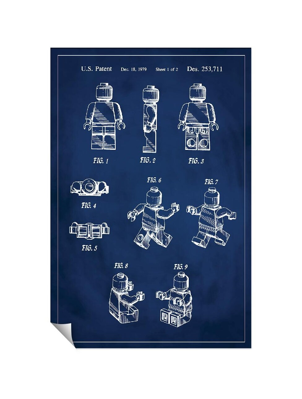 Successories-039-Lego-Man-Patent-039-Wall-Decal