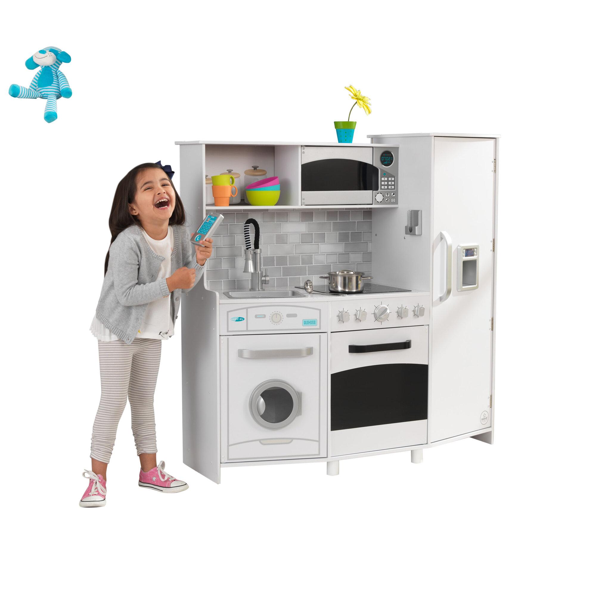 Details about KidKraft Large Play Kitchen Set White
