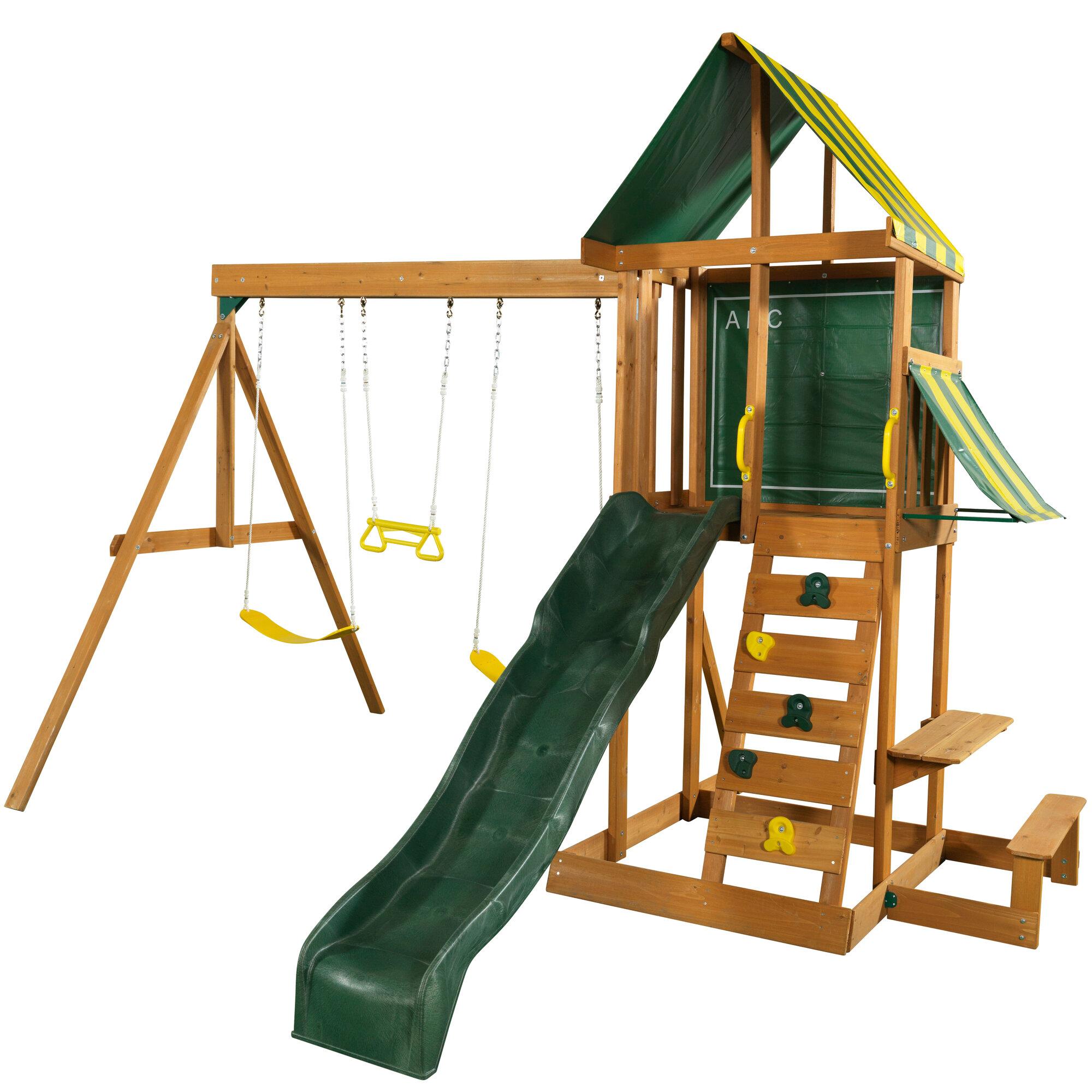 Kidkraft Spring Meadow Wooden Swing Set 875257240109 Ebay