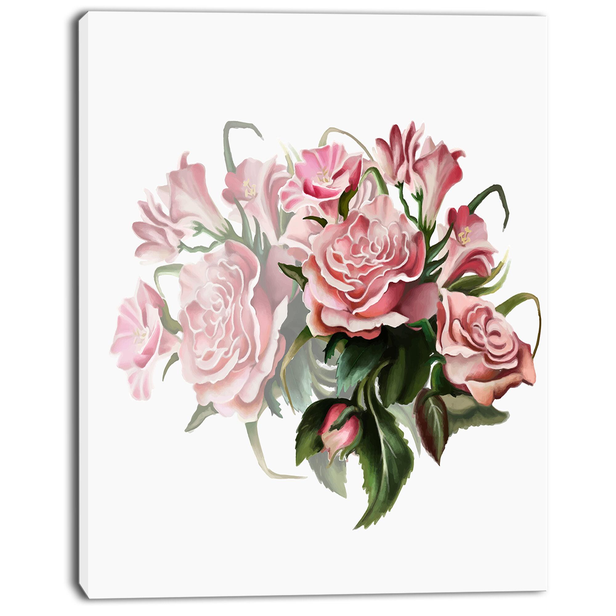 A Summer Bouquet by George E Hicks Art Girl Garden Rose Flowers 8x10 Print 0724
