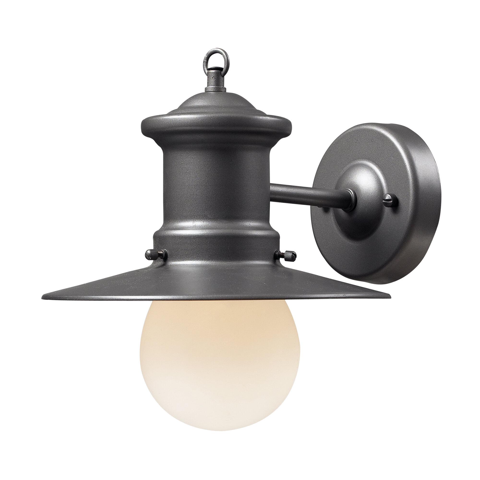 Breakwater Bay Garren 1-Light Outdoor Barn Light BKWT7702 ...