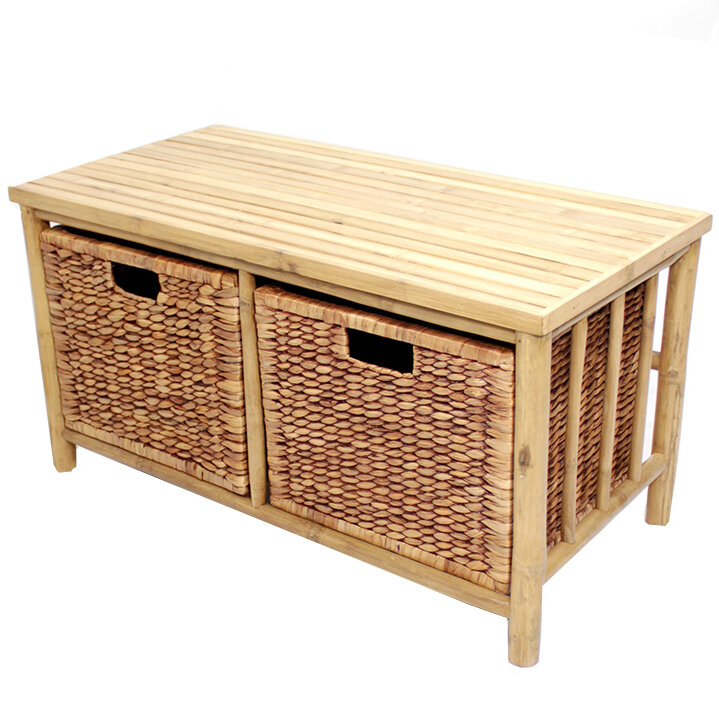 Bay Isle Home Annapolis Wood Storage Bench Ebay