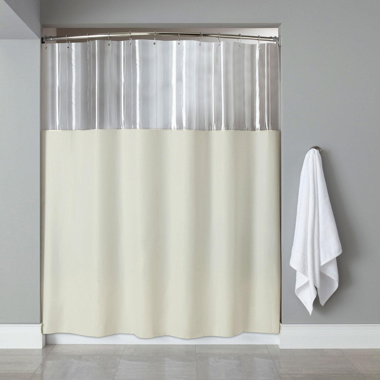 Details About Symple Stuff See Through Bath Vinyl Single Shower Curtain
