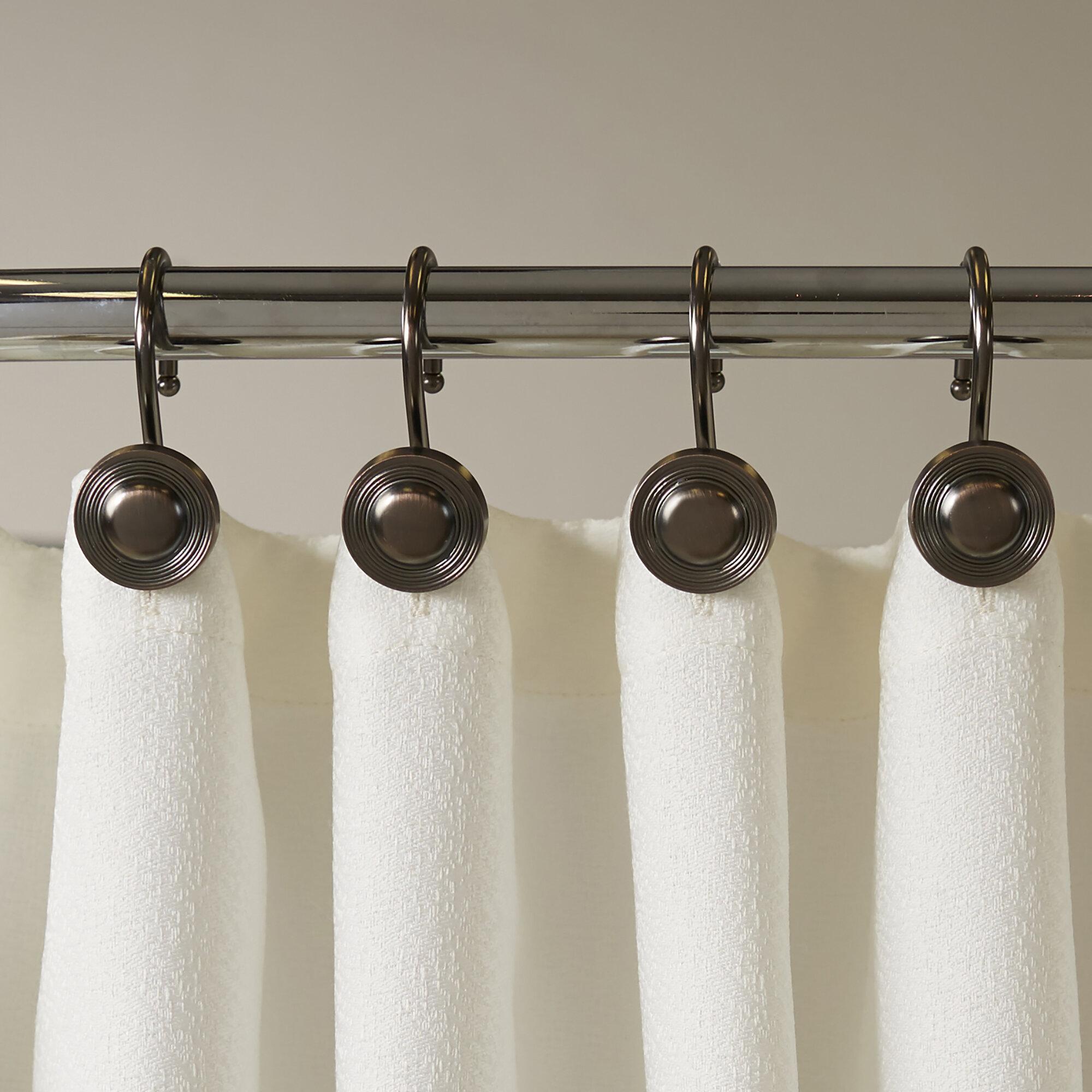 Kiera Grace Button Design Shower Curtain Hooks Shower