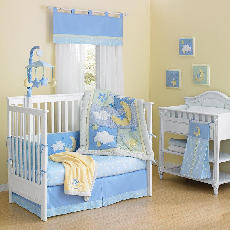 Zoomie Kids Finch Cotton Quilted 10 Piece Crib Bedding Set