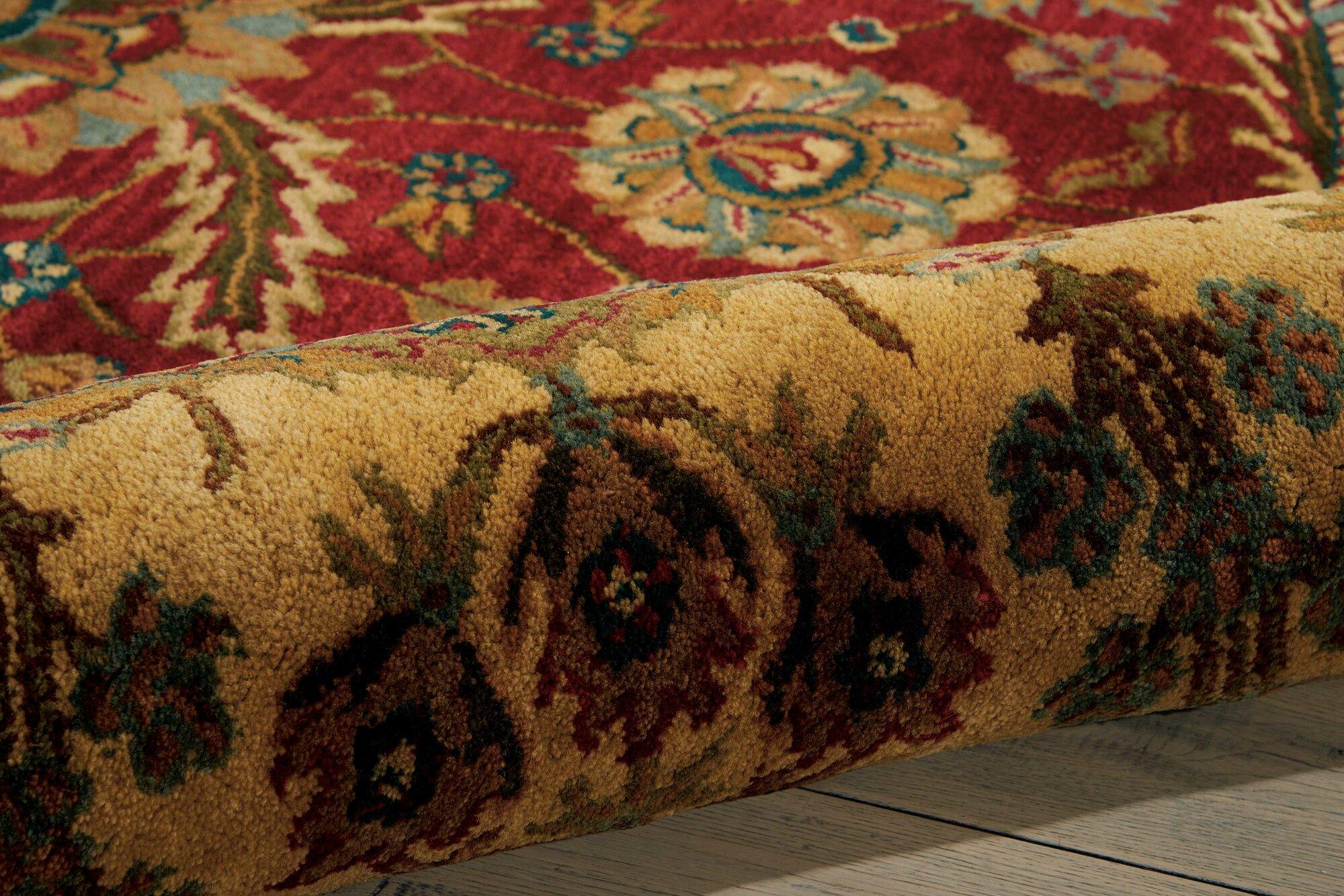 Astoria Grand Bassham Red Area Rug