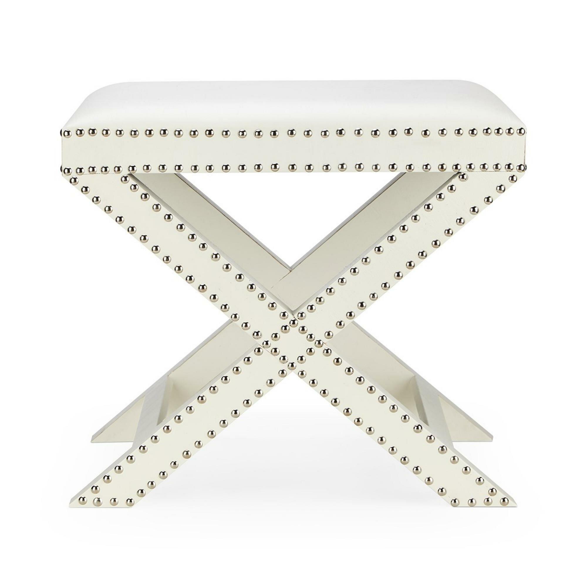 Surprising Details About Mercer41 Win Nailhead Trim Wooden Vanity Stool Short Links Chair Design For Home Short Linksinfo