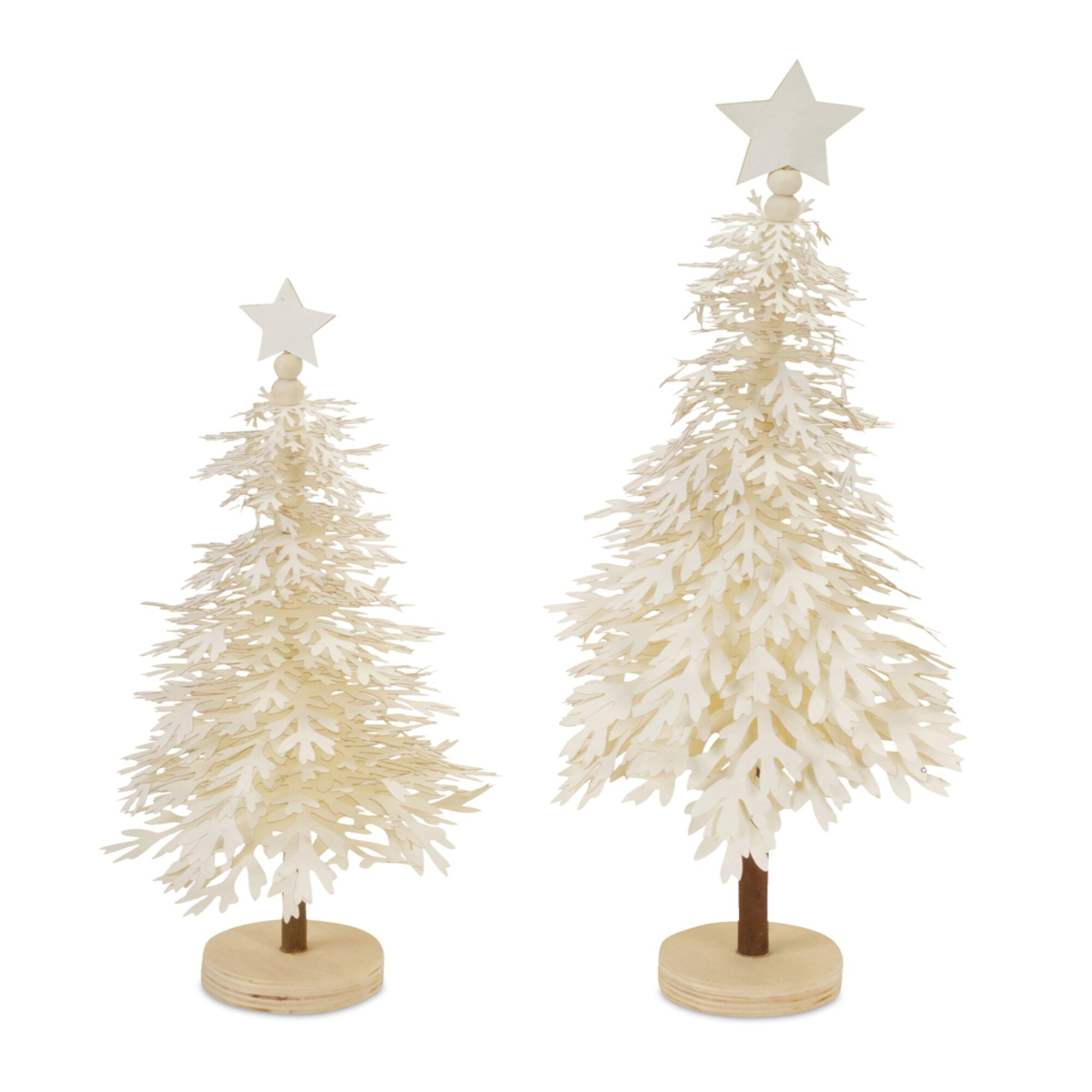 6d6a0e59f03 Details about The Holiday Aisle 4 Piece Paper Layered Snowflake Tree Set