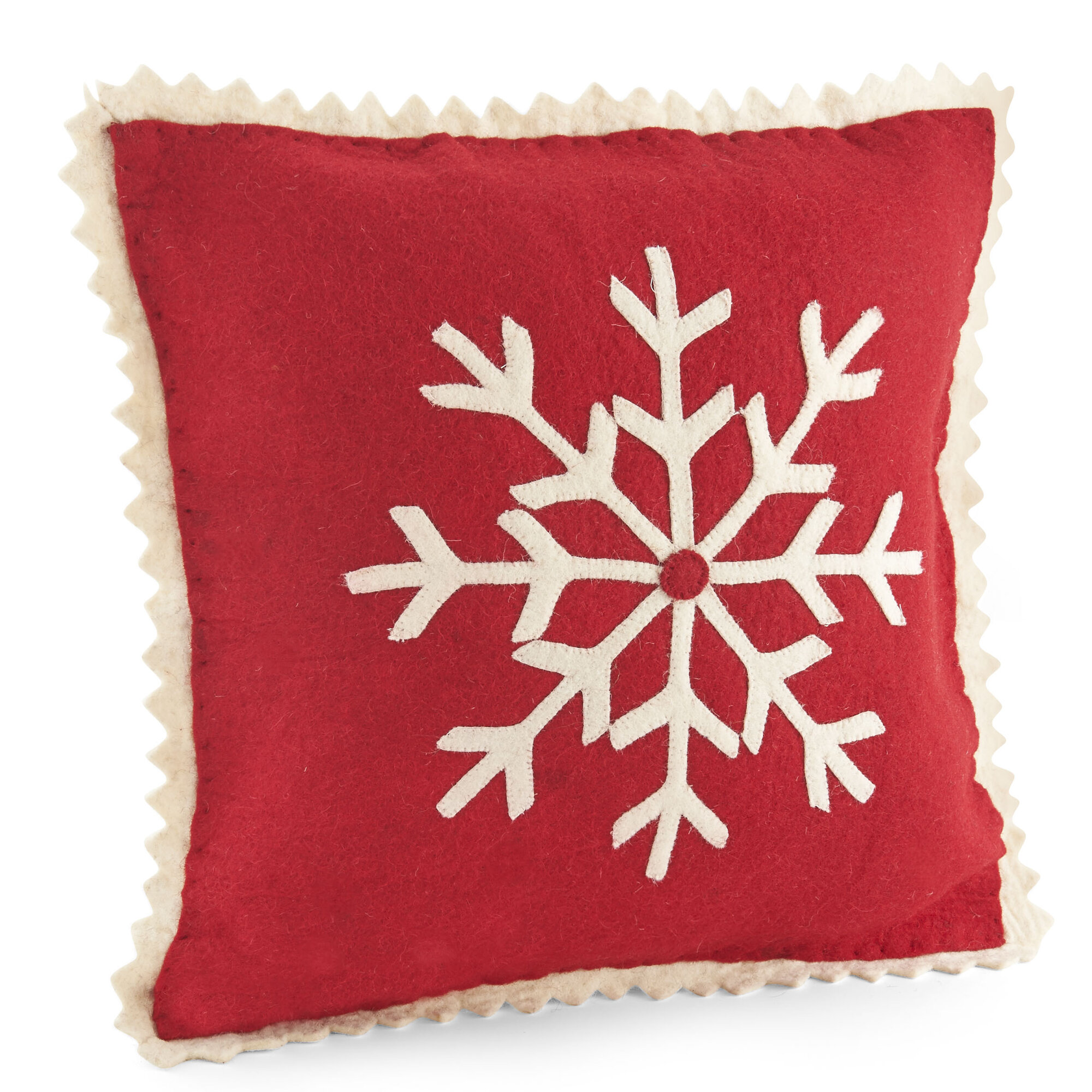 Details About Arcadia Home Snowflake Wool Pillow Cover
