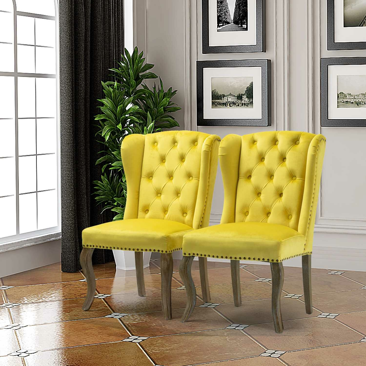 Details About Canora Grey Jolene Wingback Chair Set Of 2