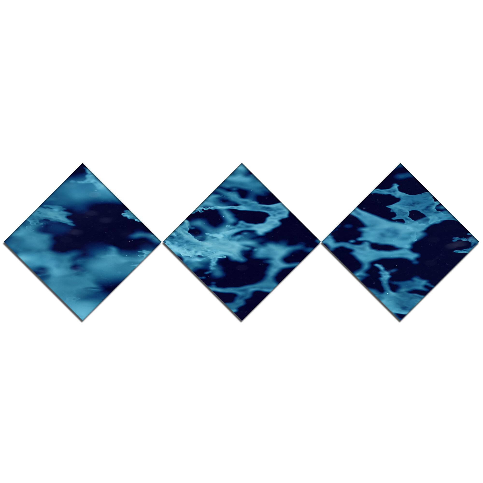 Cloudy Abstract Blue Texture' Graphic Art Print Multi-Piece Image ...