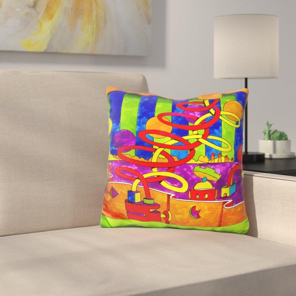 ArtVerse Katelyn Smith 16 x 16 Indoor//Outdoor UV Properties-Waterproof and Mildew Proof Iowa Love Watercolor Pillow