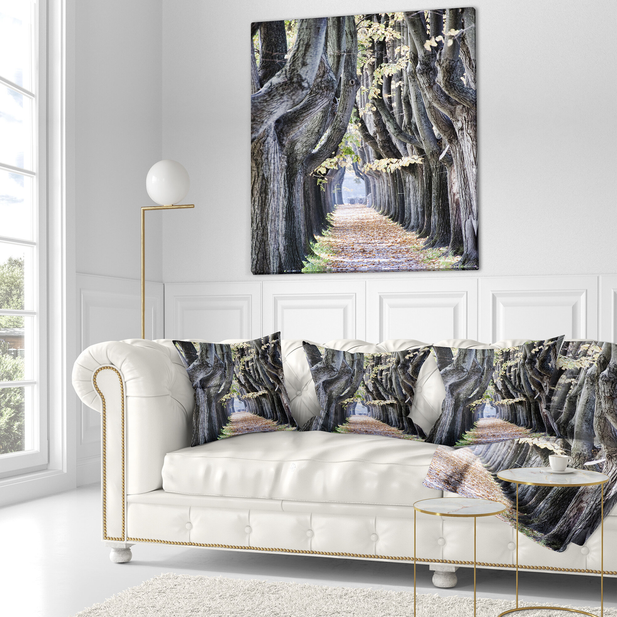 East Urban Home Landscape Photo Tree Outside Lucca Italy Lumbar Pillow Ebay