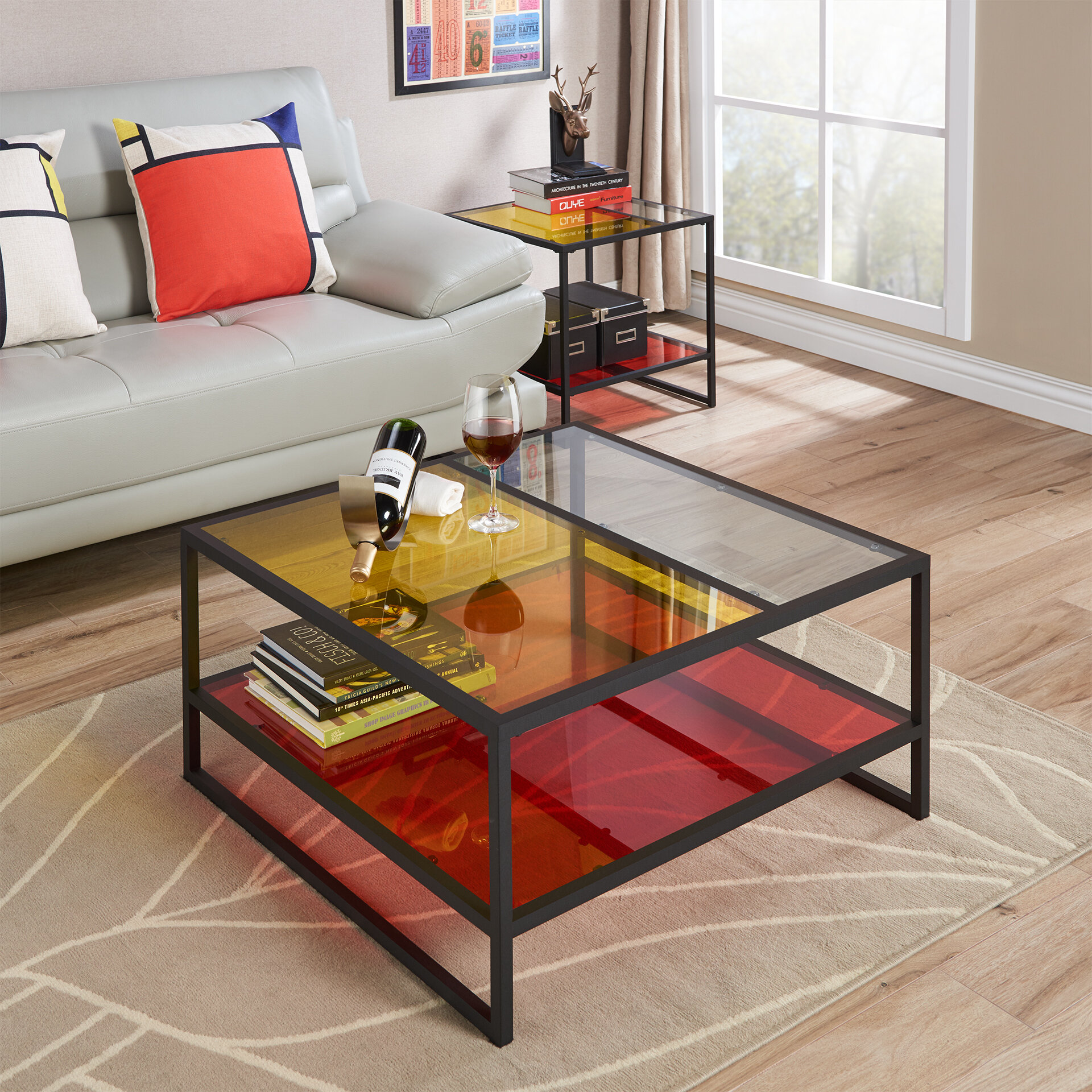Details About Latitude Run Leetsdale Contemporary Coffee Table With Magazine Rack