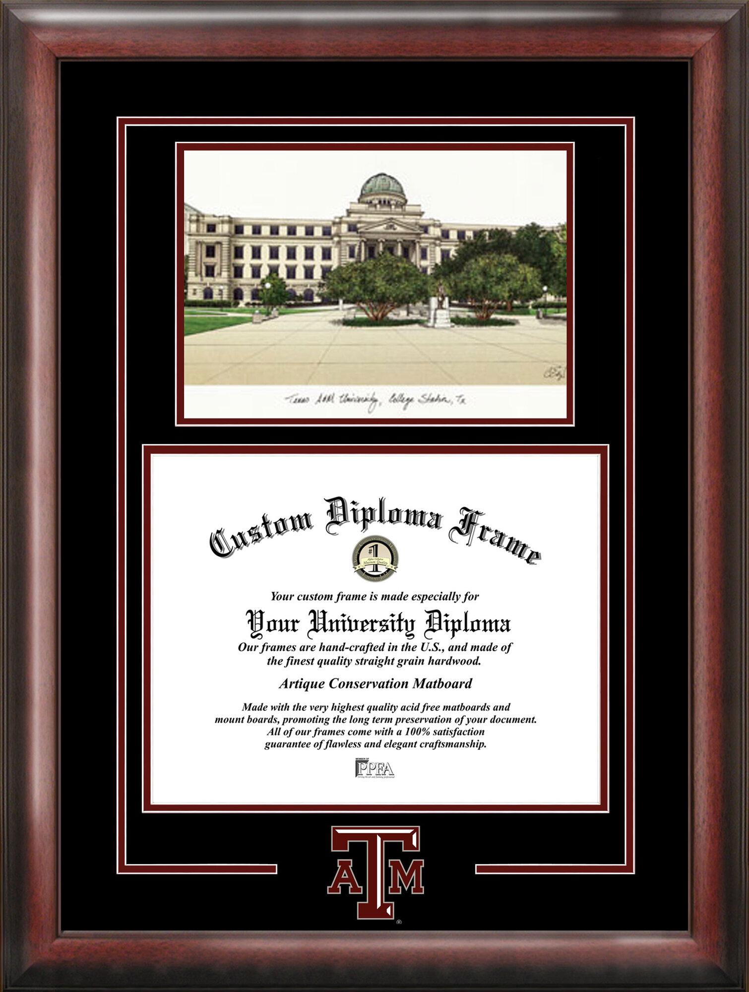 Texas A&m Aggies Alumni Mahogany Diploma Frame | eBay