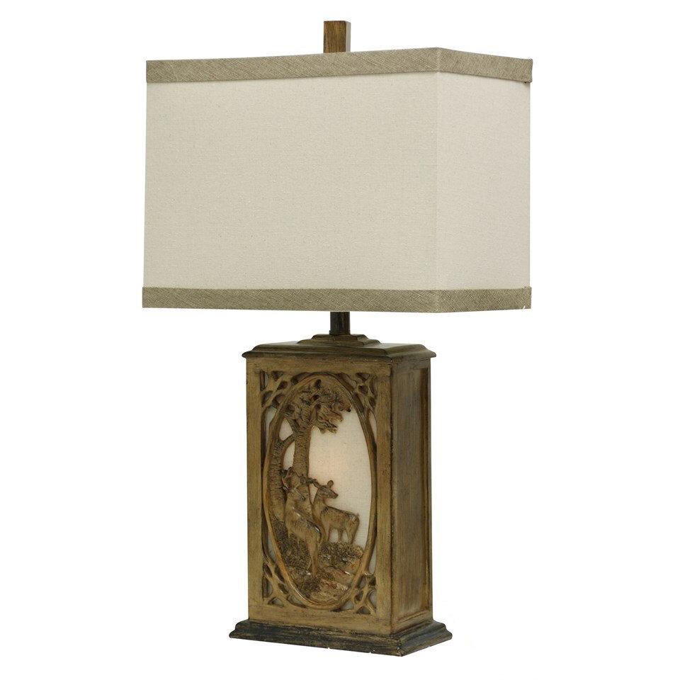 Mossy Oak Nativ Living Doe And Deer 30 Quot Table Lamp Ebay