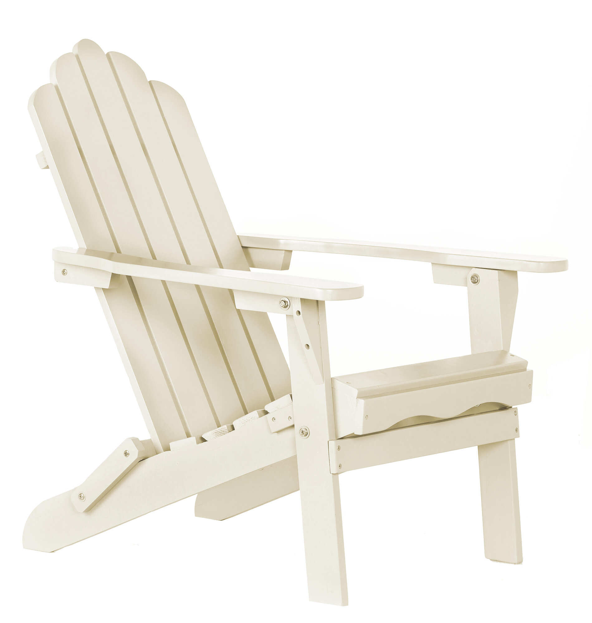 Aspen Brands Poly Recycled Plastic Folding Adirondack Chair