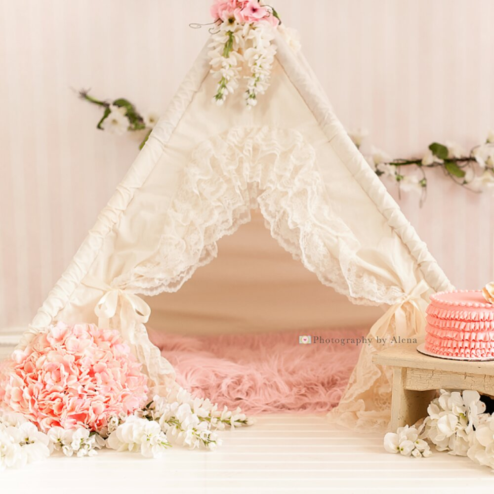 promo code 837d3 2f1ab Details about Sugar Shacks Teepees Bianca Baby Play Teepee cream Ivory