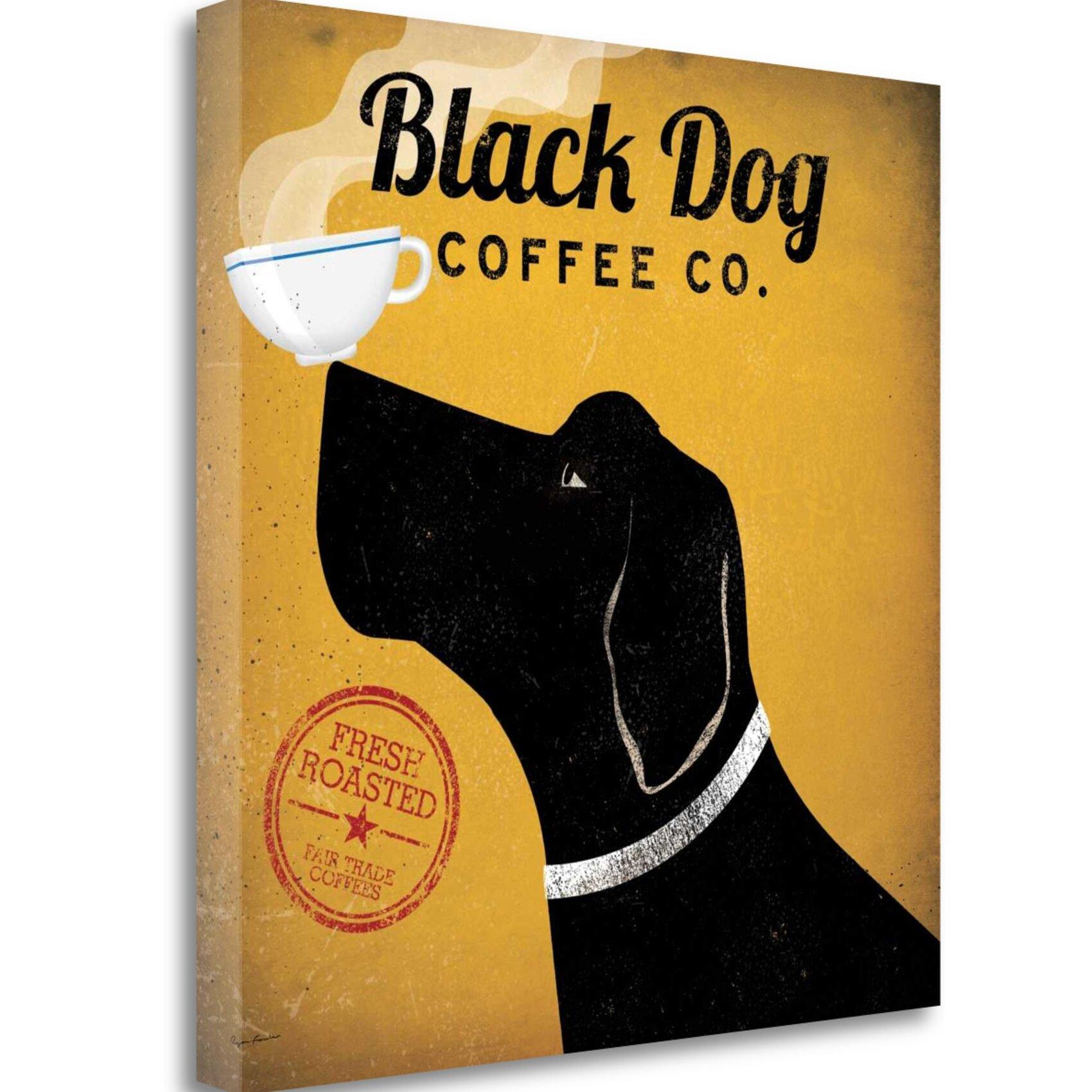 03a1a6c6cea Black Dog Café Co  Vintage anúncio Em Lona enrolada
