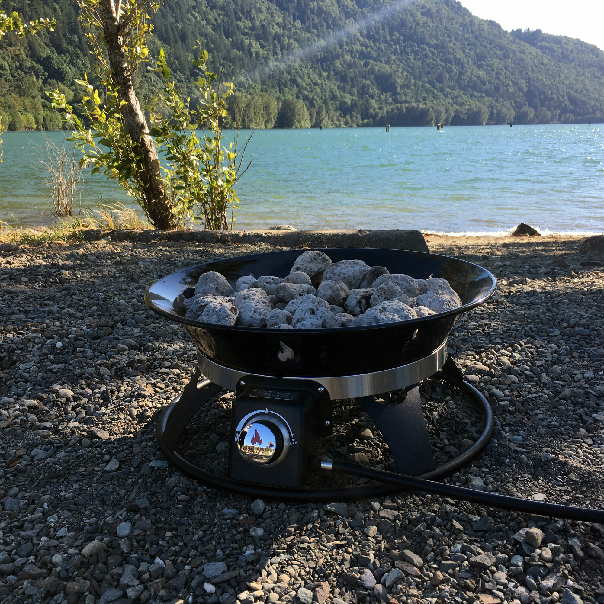 Outland Living Cypress Steel Propane Fire Pit 873975008636 ... on Outland Living Cypress Fire Pit id=15231