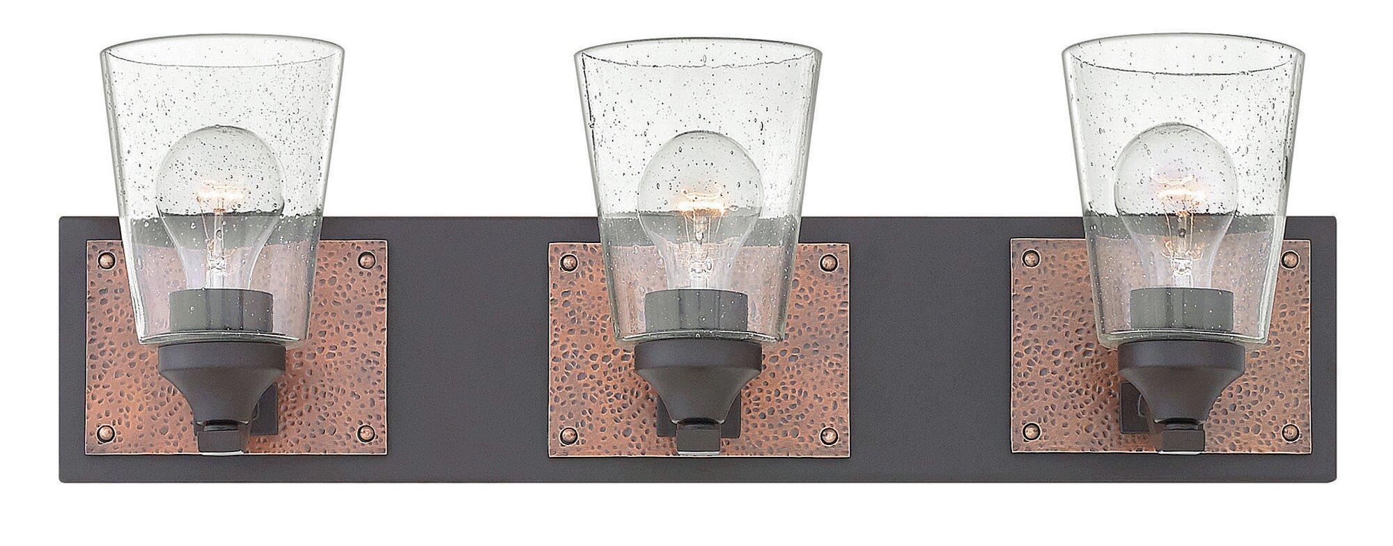 New 3 Light Bathroom Vanity Lighting Fixture Noble Bronze: Hinkley Lighting Jackson 3-Light Vanity Light Buckeye