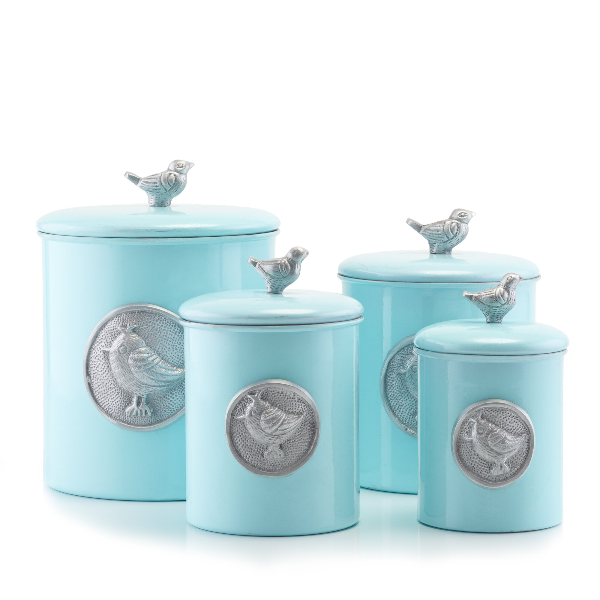 old dutch international lauren bluebird 4 piece kitchen canister set rh ebay com Western Cowboy Kitchen Canister Set Western Cowboy Kitchen Canister Set