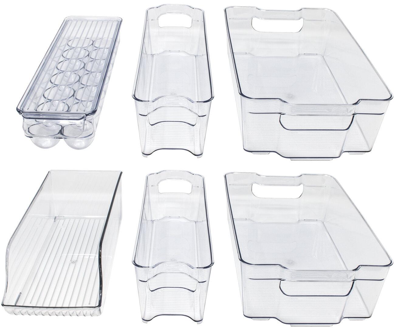 Rebrilliant Benefield Refrigerator and Freezer Organizer Bins Set of 6