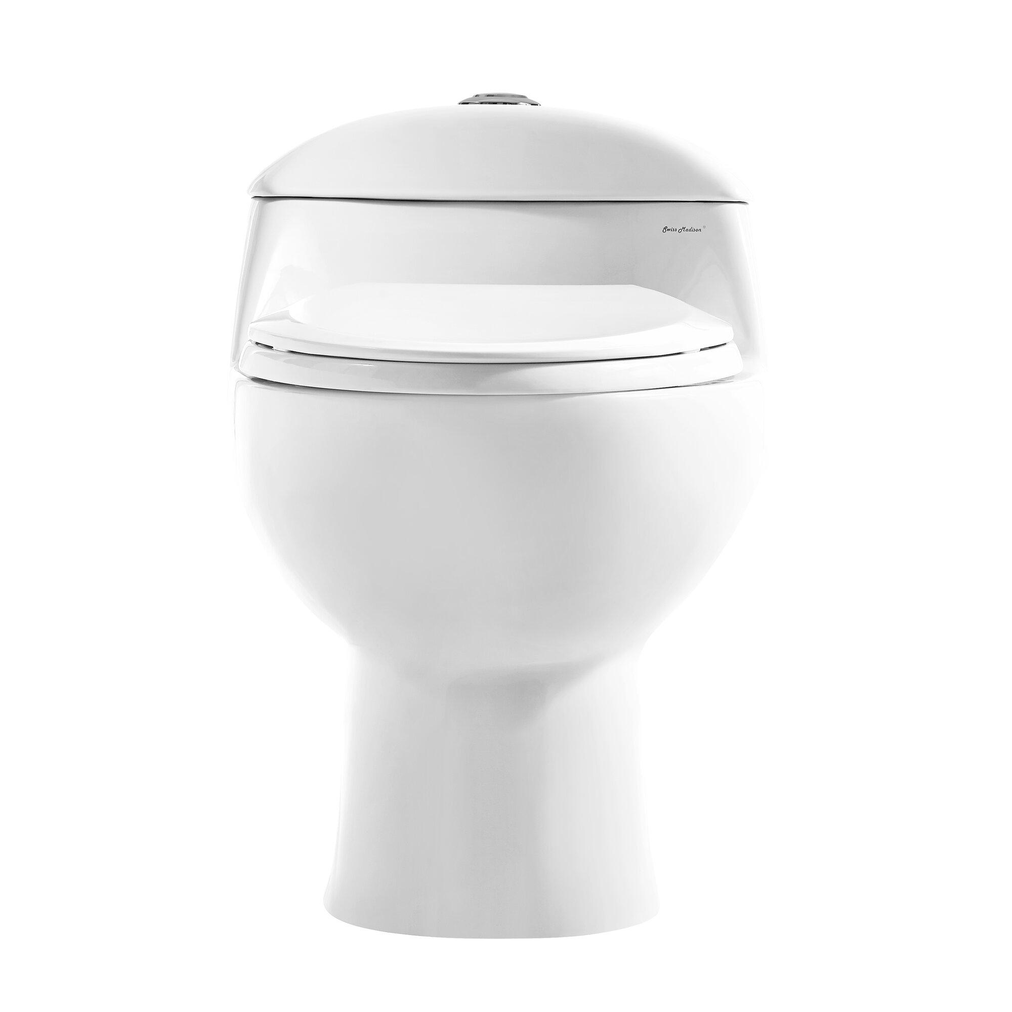 Swiss Madison Chateau® Dual Flush Elongated One-Piece Toilet (Seat ...