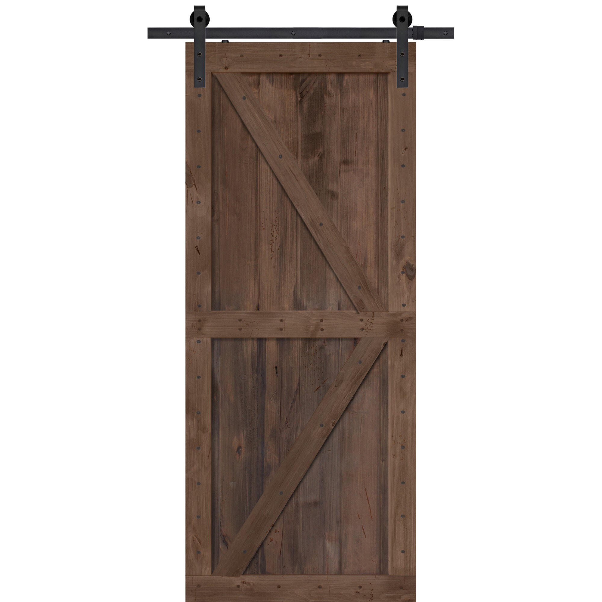 Details About Double Z Solid Wood Panelled Alder Interior Barn Door 84 H X 36 W Unfinished