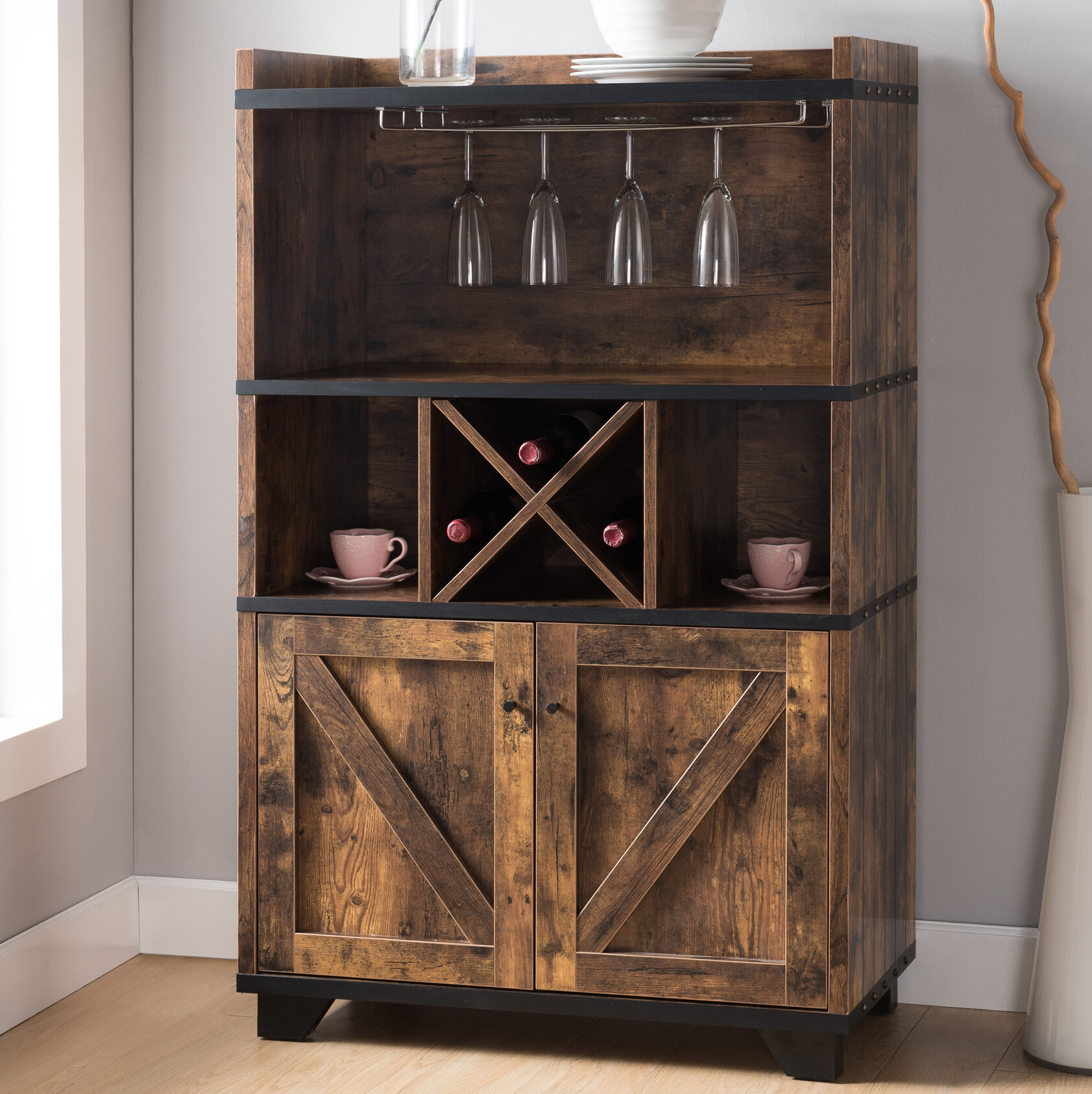 Buffet Table.Details About Union Rustic Pensford Server